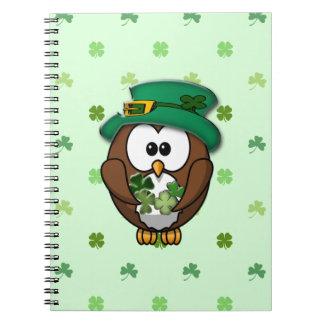 St. Patrick's Day owl Notebook