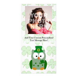 St. Patrick's Day Owl Photo Card Template