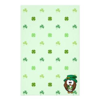 St. Patrick's Day owl Stationery