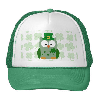 St. Patrick's Day Owl Trucker Hat