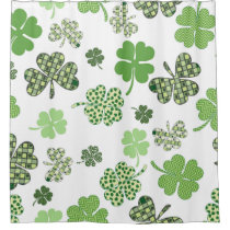 St Patricks Day Owls (2).jpg Shower Curtain