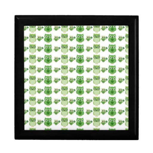 St. Patrick's Day Owls Jewelry Boxes