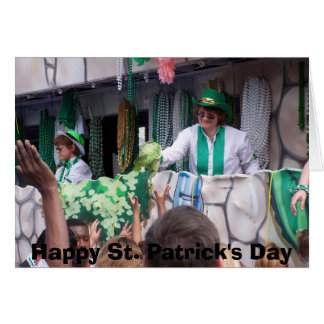 St Patricks Day Parade Card