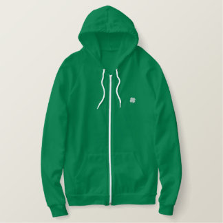 St. Patricks Day Parade Gold Clover Zip Up Hoodie