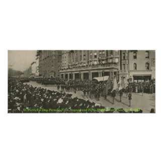 St Patrick's Day Parade in New York, 1904 Poster