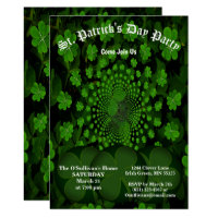 St Patrick's Day Party 4 Leaf Clover Kaleidoscope Invitation