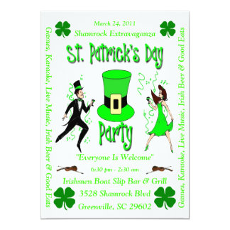 "St. Patrick's Day Party 5"" X 7"" Invitation Card"