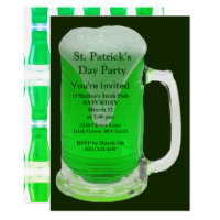 St. Patrick's Day Party Celebrate with Green Brew Invitation