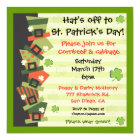 St. Patrick's Day Party Hat Invitation