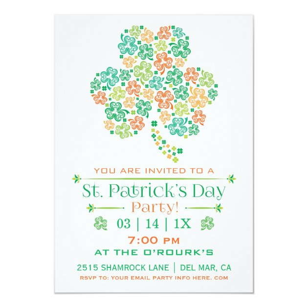 St. Patrick's Day Party Invitation (front side)