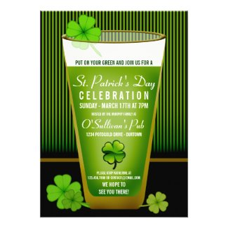 St. Patricks Day Party Invitations