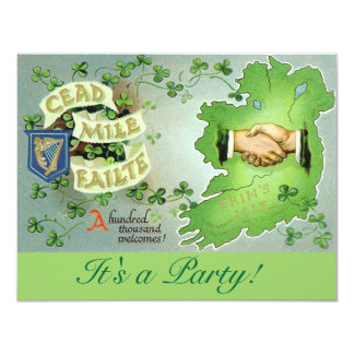 St. Patrick's Day Party Invitations! Card