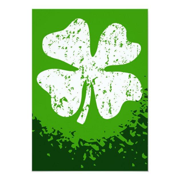 St Patricks Day party invitations | Customizable (back side)