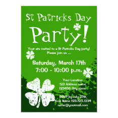 St Patricks Day Party Invitations | Customizable at Zazzle