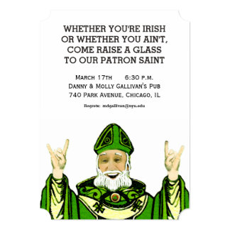 St. Patrick's Day party invites