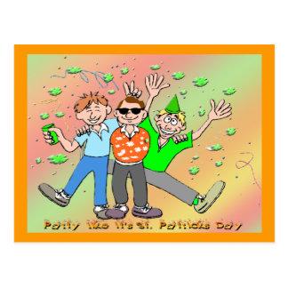 St Patrick's Day Party Postcard