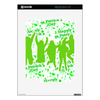 St Patricks Day Party Poster iPad 2 Decals