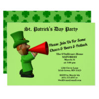 St Patrick's Day Party Potluck Announcement Invite