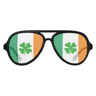 St patricks Day party shades | Funny Irish flag