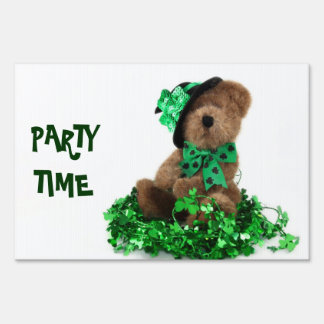 St. Patrick's Day Party Yard Sign