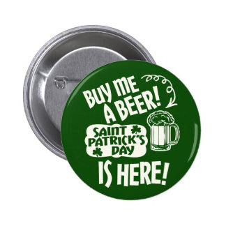 St Patricks Day Partying Button