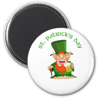 St Patrick's Day ~ Patty O'Party 2 Inch Round Magnet