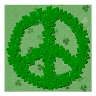 St Patrick's Day Peace Sign