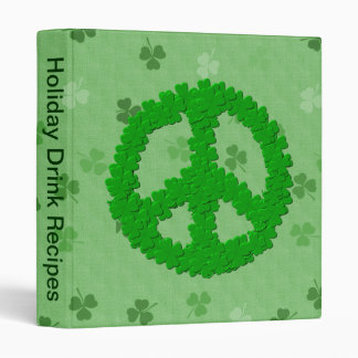 St Patrick's Day Peace Sign Binder