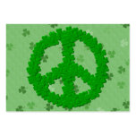 St Patrick's Day Peace Sign Large Business Cards (Pack Of 100)