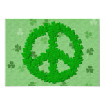 St Patrick's Day Peace Sign 5x7 Paper Invitation Card