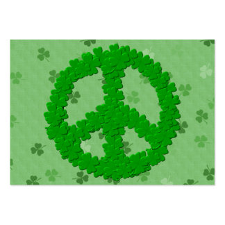 St Patrick's Day Peace Sign Large Business Card
