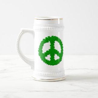 St Patrick's Day Peace Sign Mug