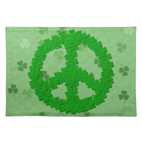St Patrick's Day Peace Sign Placemat