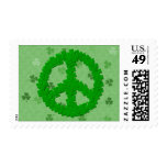 St Patrick's Day Peace Sign Stamps