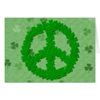 St Patrick's Day Peace Sign Stationery Note Card
