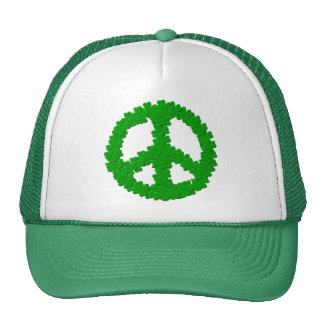 St Patrick's Day Peace Sign Trucker Hat