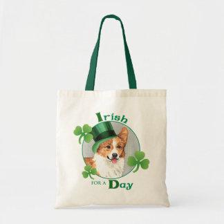 St. Patrick's Day Pembroke Welsh Corgi Tote Bag