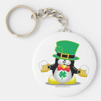 St Patrick's Day Penguin Keychain