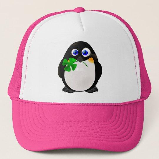 St. Patrick's Day Penguin Trucker Hat