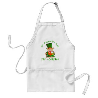 St Patricks Day ~ Philadelphia Adult Apron
