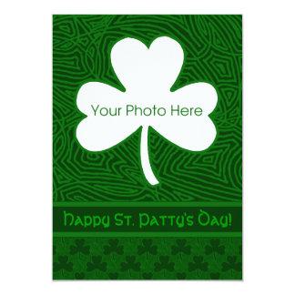 St. Patrick's Day Photo 5x7 Paper Invitation Card