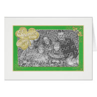 St Patrick's Day Photo Frame Template Greeting Card