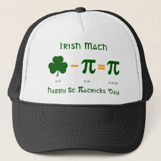 St Patricks Day & Pi Day Combination Hat at Zazzle