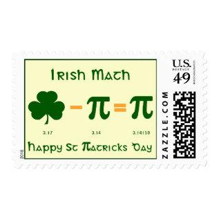 St Patricks Day & Pi Day Combination Postage Stamp at Zazzle