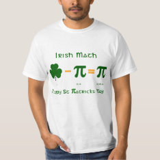 St Patricks Day & Pi Day Combination T Shirt at Zazzle