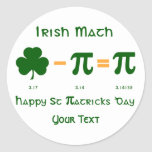 St Patricks Day & Pi Day Sticker Label Name Tags at Zazzle