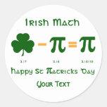 St Patricks Day & Pi Day Sticker Label Name Tags