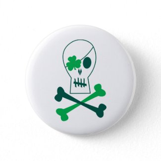 St. Patrick's Day Pirate button