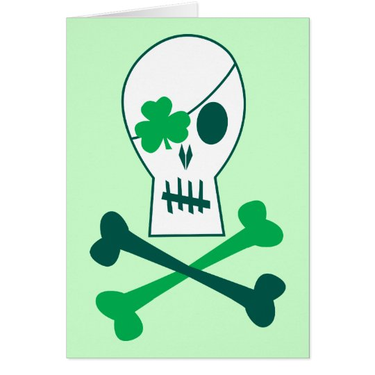St. Patrick's Day Pirate Card