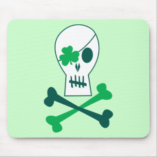 St. Patrick's Day Pirate Mouse Pad